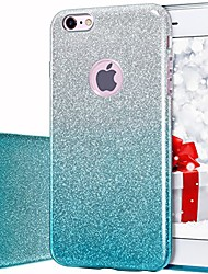 cheap -iphone 6s case iphone 6 case glitter slim bling crystal clear 3 layer hybrid protective case for iphone 6s/6 4.7 inch (gradient green)