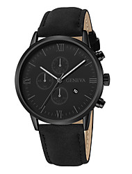 cheap -Men's Dress Watch Quartz Stylish Casual Large Dial Analog Rose Gold Black Black / Brown / One Year / Leather