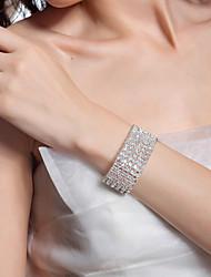 cheap -Women's Chain Bracelet Geometrical Precious Fashion Imitation Diamond Bracelet Jewelry Silver / Gold For Wedding