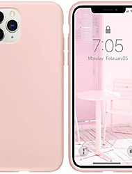 """cheap -iphone 11 pro max case pink sand, thin liquid silicone case, soft silk microfiber cloth, matte pink sand, gel rubber full body, cool protective shockproof cover 6.5"""" - pink sand"""