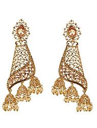 cheap -fashion bollywood jewellery traditional ethnic bridal bride wedding bridesmaid gold plated kundan pearl drop jhumka jhumki head chain indian bahubali earrings jewelry for women