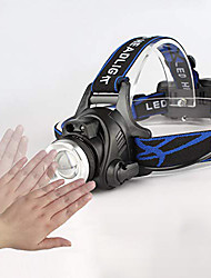 cheap -L-1 LED Light Headlamps 150 lm LED LED 1 Emitters with Adapter Camping / Hiking / Caving Everyday Use Cycling / Bike Black