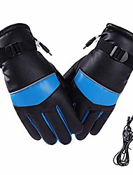 cheap -electric heated gloves with touch screen, men women electric rechargeable battery heat gloves, waterproof windproof ski warmer gloves for outdoor riding hunting ski cycling