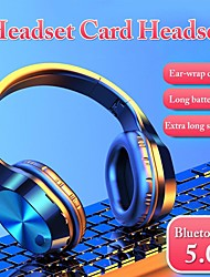 cheap -LITBest Bluetooth Headphones Wireless Stereo Earphones Foldable Low Bass Headset Adjustable Earbuds With Microphone/TF Card