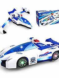cheap -car toys for 3-8 year old boys, transforming toys with led lights and music effects best gifts, cars and airplanes toys are combined into one for boys toddlers girls kids.