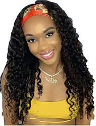cheap -Human Hair Wig Medium Length Long Very Long Water Wave U Part Natural Women Sexy Lady New Capless Peruvian Hair Women's Natural Black #1B 12 inch 14 inch 16 inch