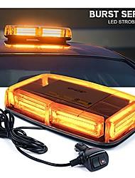 cheap -burst series 12v cob led amber/yellow roof top emergency hazard warning led mini strobe beacon lights bar w/magnetic base, for snow plow, police, firefighters, trucks, vehicles