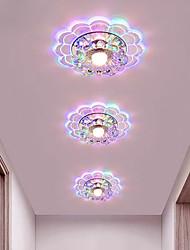 cheap -20cm LED Ceiling Light Crystal Porch Light Aisle Corridor Modern Flower Design Flush Mount Lights Metal Electroplated 220-240V