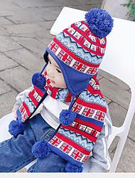 cheap -2pcs Kids / Toddler Unisex Active Flag Acrylic Hats & Caps / Scarves Blue One-Size / S / M