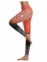 cheap -floral printed yoga pants for women colorful sports leggings full length fitness sports tights interlink leggings by jmetrie orange