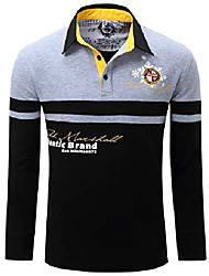cheap -men's long sleeve premium embroidered classic golf polo shirts cottom warm polo t shirt, grey, us l, eur xl