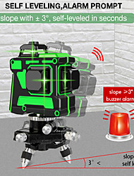 cheap -Level instrument green light 12 line laser level automatic leveling 3D wall mounting instrument infrared high precision wall bracket