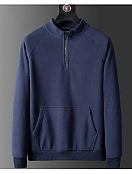 cheap -men's nano quarter zip fleece jacket, vintage denim, xxx-large