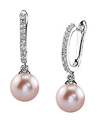 cheap -the pearl source 8-9mm genuine pink freshwater cultured pearl silver zara earrings for women