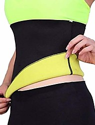 cheap -Corset Women's Plus Size Simple Style Sport Tummy Control Solid Color Seamed Spandex Neoprene Running Gym Walking Driving Fall Winter Spring Summer Light Yellow