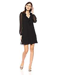 cheap -women's black chiffon dress, 12