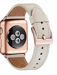 cheap -compatible iwatch band 40mm 38mm,top grain leather band with gold connector(the same as series 5/4/3 with gold aluminum case in color) for iwatch series 5/4/3/2/1(ivory white+rosegold connector)