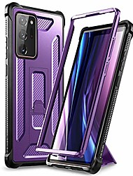 cheap -galaxy note 20 ultra case with kickstand full body heavy duty military grade protection defender shockproof tpu rugged protective bumper case for samsung note 20 ultra 6.9 inch - purple