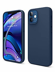cheap -liquid silicone case compatible with iphone 12 mini 5.4 inch case (blue) - full body protection (screen & camera protection)