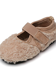 cheap -Women's Flats Flat Heel Round Toe Casual Daily Walking Shoes Wool Black Beige Coffee