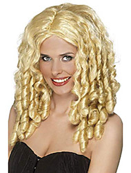 cheap -women's film star wig long with spiral curls, blonde, one size