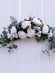 cheap -floral swag artificial flowers peony wreath,rose peony decorative swag arch wreath handmade garland for front door flowers arrangements wedding centerpieces backdrop wall decor