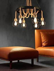 cheap -6-Light 60 cm Mini Style Bulb Included Pendant Light Metal Others Retro 110-120V 220-240V