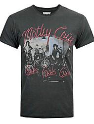 cheap -amplified motley crue girls girls girls men's t-shirt charcoal