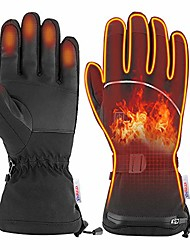 cheap -[upgrade] electric heated gloves with touch screen,outdoor indoor battery powered heating winter windproof gloves for men and women outdoor warm motorcycle riding hunting ski cycling (m)