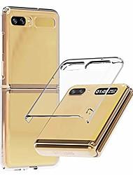 cheap -nukin, transparent polycarbonate Phone Case for galaxy z flip, premium hard coating slim Phone Case - clear