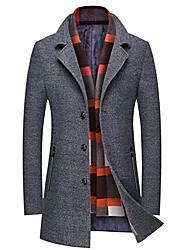 cheap -men's winter warm wool coat jacket outwear grey01 m