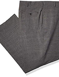 cheap -men's j.m big and tall sharkskin plaid classic dress pant, charcoal heather, 50 x 32