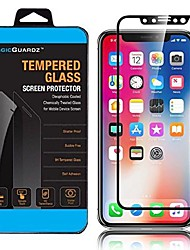 cheap -, made for apple iphone x, full cover 3d hd cover, premium real tempered glass carbon fiber screen protector, retail box (black)