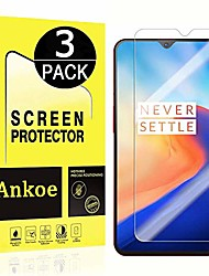 cheap -Phone Screen Protector OnePlus Oneplus 6T Tempered Glass 3 pcs High Definition (HD) Ultra Thin Scratch Proof Front Screen Protector Phone Accessory