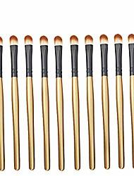 cheap -50pcs professional eyeshadow brush eye decorative brushes, 5 bags in 1 pack, 10pcs/bag (color : brown black)