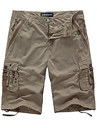 cheap -men's cargo short loose fit multi-pocket shorts Outdoor Cotton Cargo Short Pants