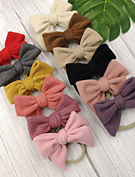 cheap -1pcs Toddler / Infant Girls' Sweet Solid Colored Bow Hair Accessories Black / Purple / Red One-Size