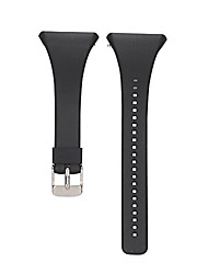 cheap -silicone replacement watch strap compatible for polar ft4/ft7, soft adjustable replacement watch bands for men and women