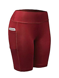 cheap -women's compression running shorts - high waisted performance gym yoga & workout bike short - 7 inch inseam red l
