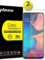 cheap -[2 pack]galaxy a20 screen protector, anbel design 9h hardness [3d touch] [case friendly]ultra-clear tempered glass for samsung galaxy a20 (2019)