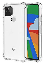 cheap -for google pixel 5 case, shock absorption rubber flexible tpu anti-fall gasbag soft phone case cover for google pixel 5 case (transparent)