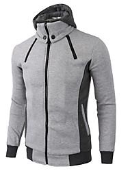 cheap -mens casual fleece hoodie double zipper slim hooded sweatshirt jacket black xx-large