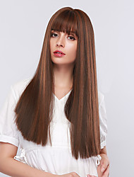 cheap -Synthetic Wig / Bangs Curly / Water Wave Style Side Part Capless Wig Grey Synthetic Hair 18 inch Women's Cosplay / Women / Synthetic Dark Gray Wig Long Cosplay Wig