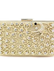 cheap -Women's Bags Polyester Alloy Evening Bag Glitter Crystals Crystal / Rhinestone Rhinestone Wedding Bags Wedding Party Gold Silver