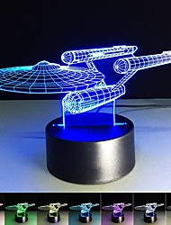 cheap -3D Illusion Lamp Sta Trek 3D LED Night Light 7 Color Changing Desk Table Lamp Home Decor Christmas Night Light for Baby Kids Room Sleeping Night Light Christmas New Year Gift