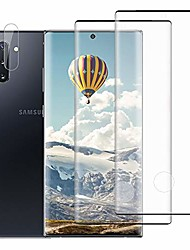 cheap -[2+1] galaxy note 10 tempered glass screen protector + camera lens film [3d full coverage] [compatible fingerprint unlock] [anti-scratch] hd protective film for samsung galaxy note 10 6.3 inch