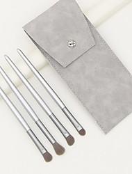 cheap -4 Pcs new silver makeup brush sets purple small grape eye shadow brush full set of eye beauty tools.