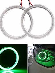 cheap -everbrightt 1 pair green 60mm 45smd cob led angel eyes with shell car headlight halo ring bulbs drl decoration dc 12v