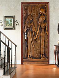 cheap -Self-adhesive Creative Door Stickers Pharaoh Image Living Room DIY Decoration Home Waterproof Wall Stickers