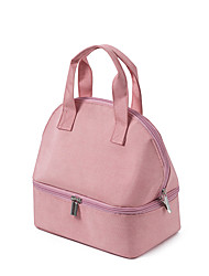 cheap -Unisex Bags Linen Lunch Bag Top Handle Bag Zipper Plain Daily 2021 Handbags Blue Blushing Pink Gray